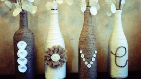 Wine-Bottle-Crafts-for-DIY-Decor-Wine-Bottle-Vases-LOVE-620x348